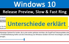 Windows 10: Release Preview...