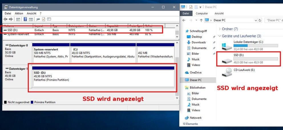 Ssd Wird Nicht Erkannt Windows 10