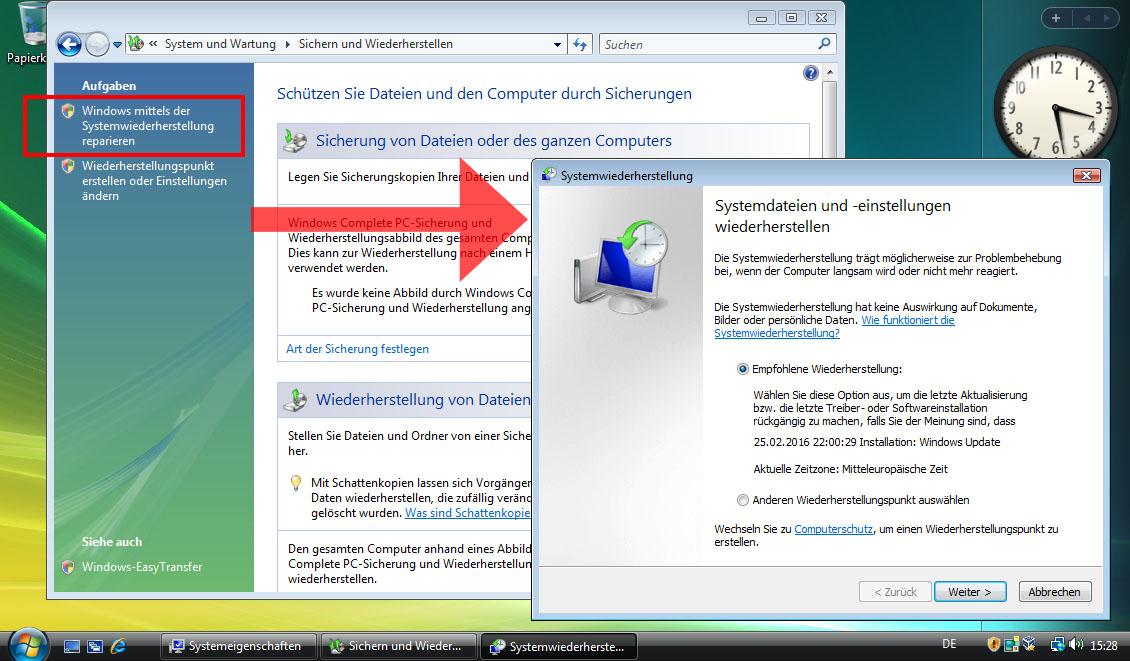 Windows Vista Reparieren