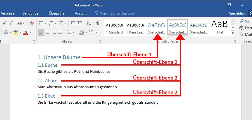Word mac inhaltsverzeichnis mit diesem schreiben
