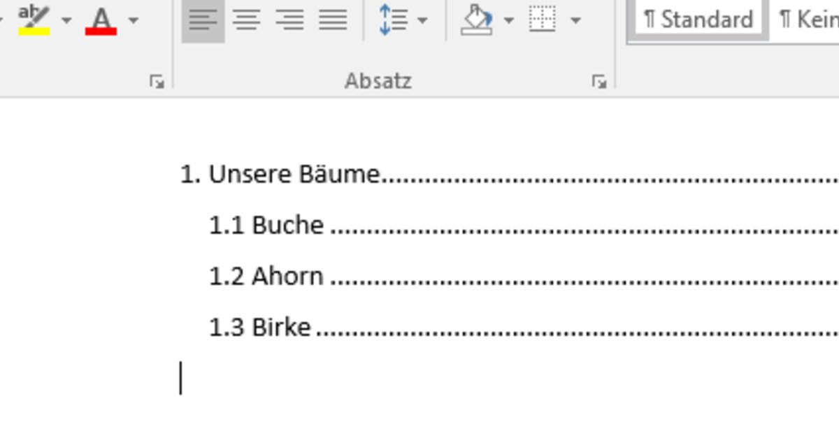 Word Inhaltsverzeichnis Erstellen Und Bearbeiten So Gehts