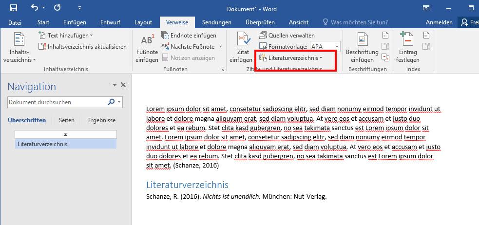 Literaturverzeichnis In Word Erstellen So Geht S