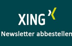 Xing-Newsletter abbestellen...