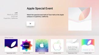 Event am 21. März: Apple-TV-App für den Live-Stream erfordert manuelle Installation
