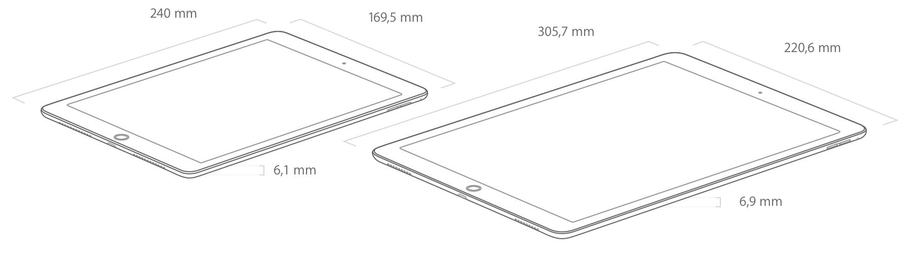ipad pro 9 7 und 12 9 zoll vs ipad air 2 im vergleich wer wird meister der tablets giga. Black Bedroom Furniture Sets. Home Design Ideas