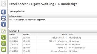 Excel-Soccer Ligaverwaltung 1. Bundesliga Download
