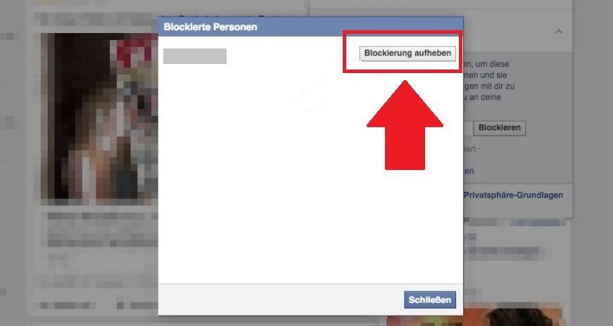 Facebook Blockierung