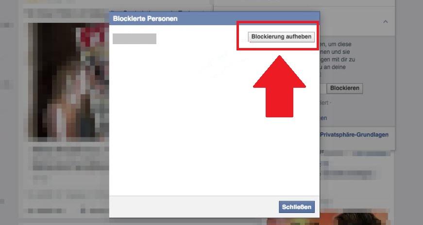blockierung aufheben
