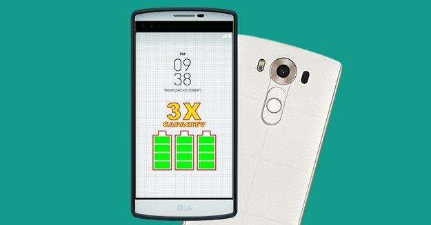 LG V10 mit 9.000 mAh: Akkulaufzeit per Case verdreifachen