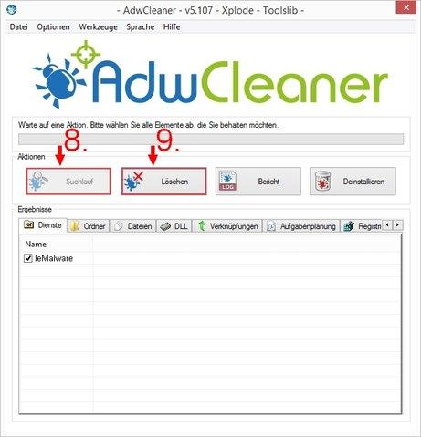 Malware entfernen AdwCleaner