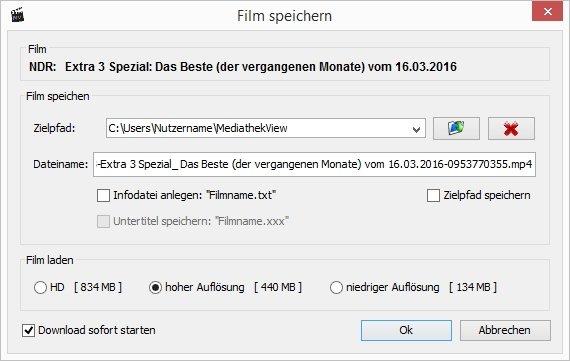 NDR Mediathek Download MediathekView Einstellungen