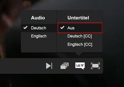 Turn off Netflix subtitles