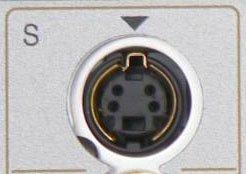Der S-Video-Anschluss. Bildquelle: Wikipedia.