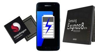 Snapdragon 820 im Samsung Galaxy S7: 46 Prozent weniger Akkulaufzeit als Exynos-Version
