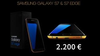 Samsung Galaxy S7 (edge): Veredelung mit 24-Karat-Gold ab 2.200 Euro