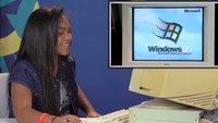 Teenager von heute probieren Windows 95 an altem PC aus