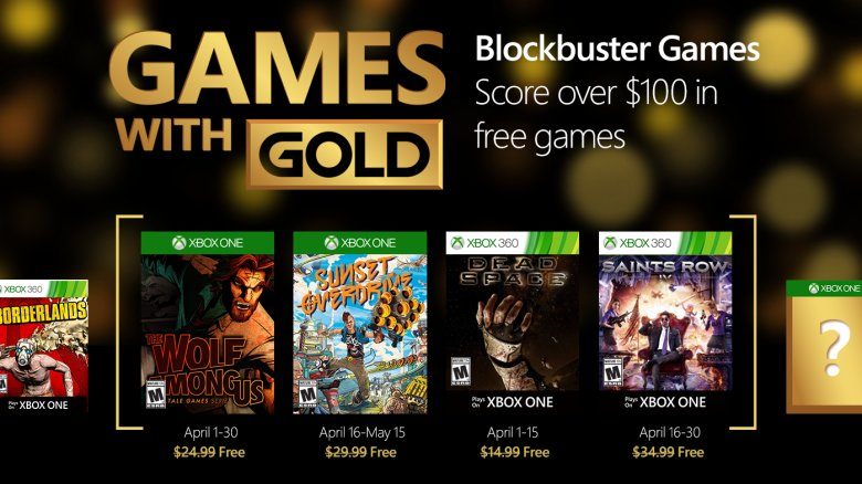 Xbox Live Games with Gold April