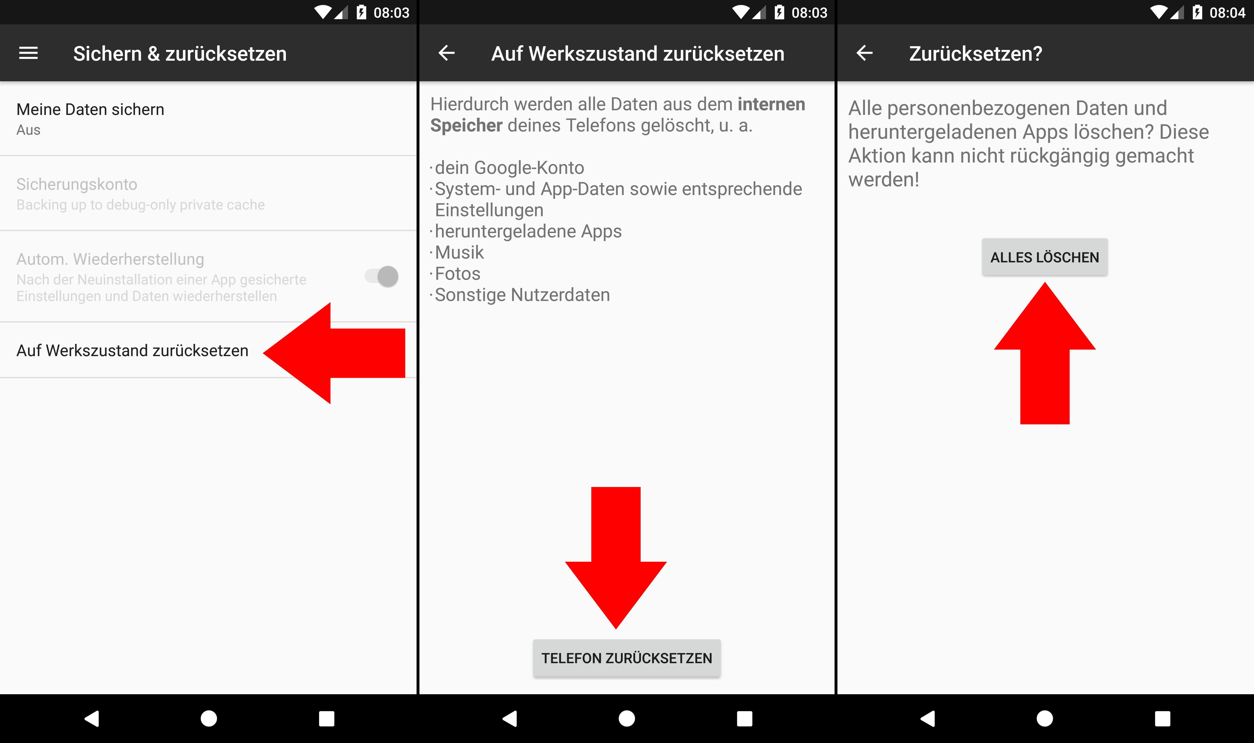 Handy Auf Werkseinstellungen Zurücksetzen Android Smartphone Giga