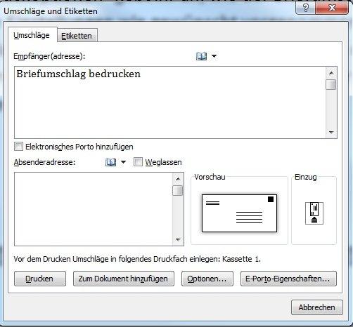 Briefumschlag Bedrucken Mit Word Openoffice Und Co Giga