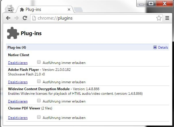 shockwave flash per google chrome