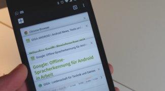 Chrome für Android: Alte Tab-Ansicht wird wieder zum Standard