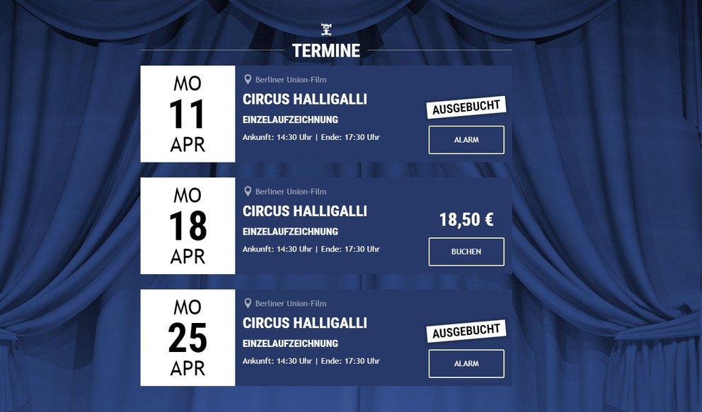 Circus Halligalli Tickets Für Die Shows 2016 Giga