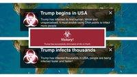 """Plague Inc.: """"Trump hat erfolgreich alles Leben ausgelöscht"""""""