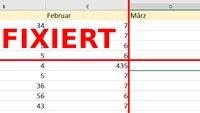 Excel: Zeile, Spalte & Fenster fixieren – so geht's