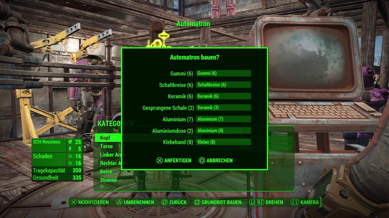 Fallout 4 Automatron Roboter Bauen Und Verbessern