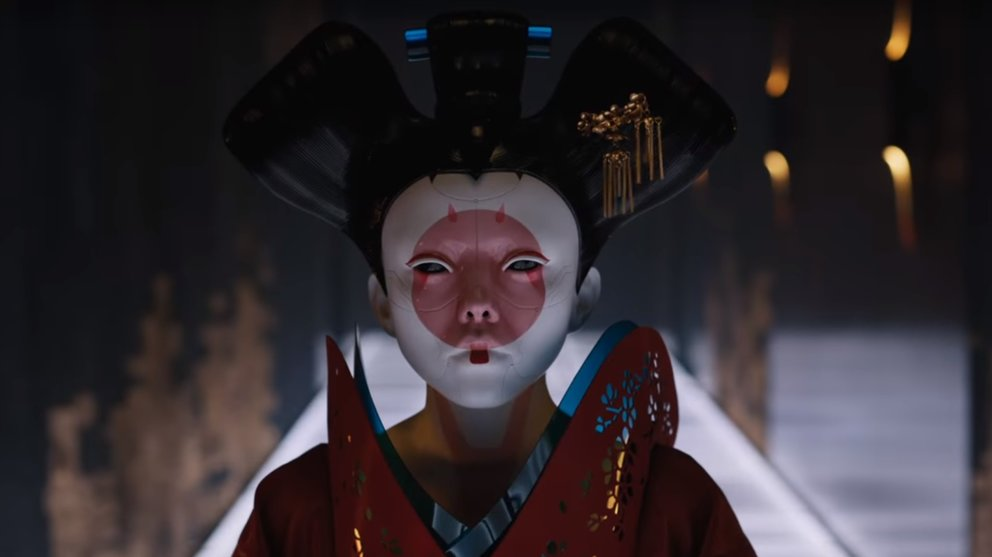 geisha hallway paramount pictures ghost in the shell teaser