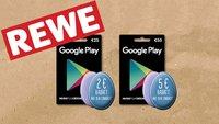 REWE: Bis zu 10 Prozent Rabatt auf Google Play Store-Guthabenkarten