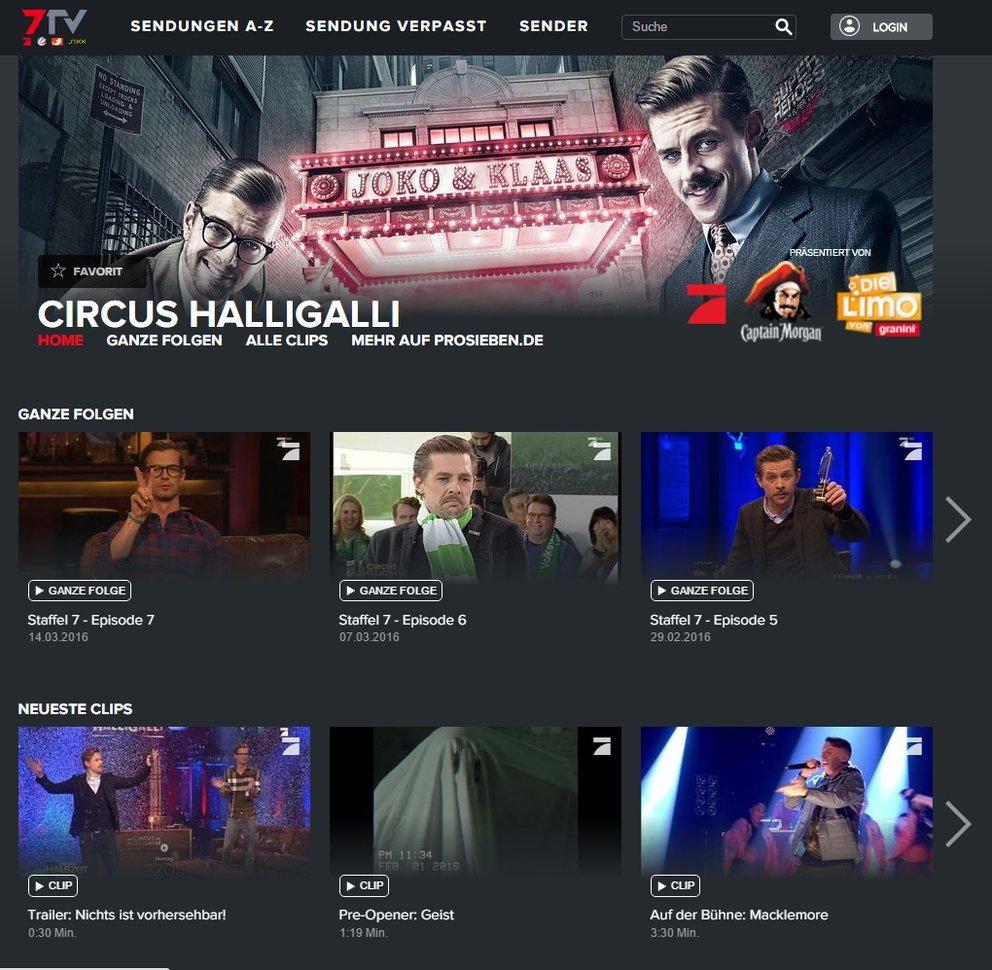 Circus Halligalli Pro 7
