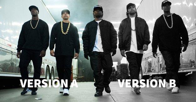 """Rassistische Werbung? Wie zwei Trailer-Versionen von """"Straight Outta Compton"""" Facebook in die Kritik brachten"""