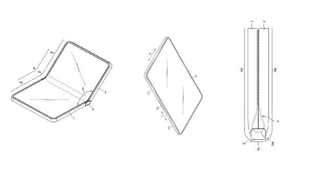 Samsung: Patent zeigt Klapp-Smartphone mit faltbarem Display