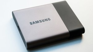 Samsung Portable SSD T3: 2 GB in 5,7 Sekunden gespeichert