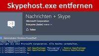 Skypehost.exe: Was ist das? Wie entfernen? – So geht's