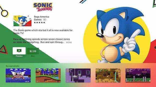 Spiele-Klassiker Sonic the Hedgehog für tvOS erhältlich