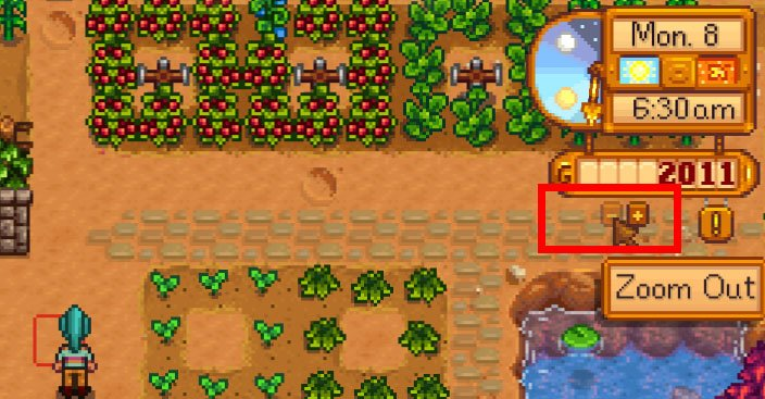 Stardew Valley: Die Zoom-Buttons sind neu in Version 1.05.