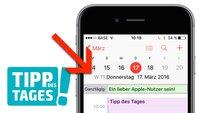 Tipp: Kalenderwochen auf iPhone, iPad und Mac anzeigen