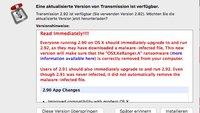 Erste Mac-Ransomware installiert sich über Transmission-Update