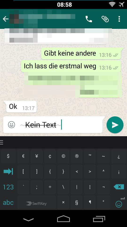 Whatsapp status schreiben kursiv