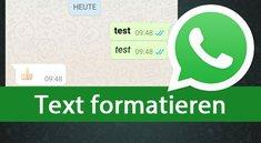WhatsApp: Text in fett, kursiv, durchgestrichen,... schreiben – so geht's