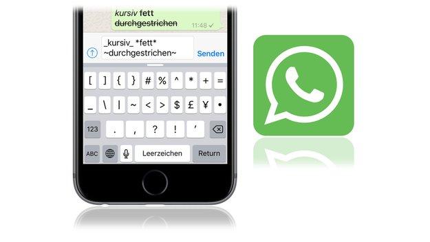 WhatsApp fürs iPhone gestattet jetzt Textformatierungen: Kursiv, fett, durchgestrichen
