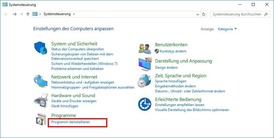 Programme Auf Windows Vista Deinstallieren - blogsastro