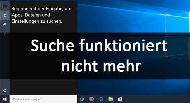 Windows server 2016 suche findet nichts