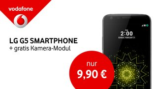 Mit LTE Max und Auslands-Flat – LG G5 mit gratis Kamera-Modul, 6 GB und Allnet-Flat bei Vodafone
