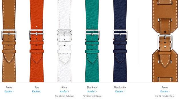 Apple Watch: Hermès-Armbänder Double Tour, Single Tour und Cuff ab sofort einzeln erhältlich