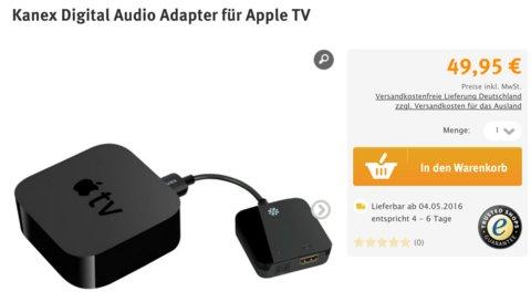 optischer audioanschluss f r apple tv 4 ab sofort. Black Bedroom Furniture Sets. Home Design Ideas