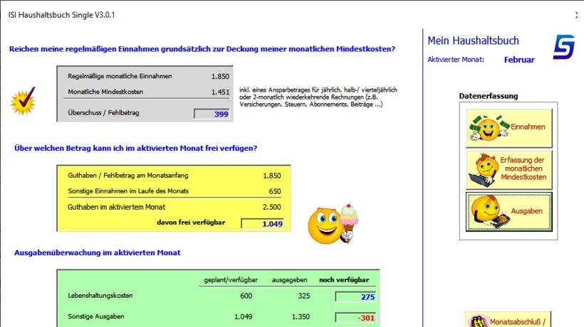 Haushaltsbuch kostenlos single