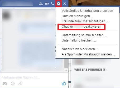 Facebook Chat Ausschalten